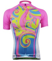 R16A ropa ciclismo new arrival women's pink cycling jerseys unique Aogda fashion cycle gear novelty cycling suits