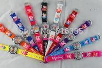 Fast shipping DHL 140pcs! pink Peppa Pig 3D Cartoon Children Boys Kids Quartz Watches Wrist Watches Gift