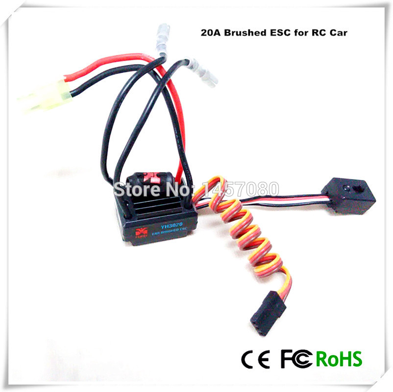 20A Brushed ESC Two-Way Motor Speed Controller With Brake For 1/16 1/18 1/24 RC Car Boat Tank china(China (Mainland))