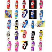 NEW arrived 10pcs Fashion Sports Watch Cute Peppa Pig Cartoon 3D  Child Wrist Watch Children Watch Gift hot selling