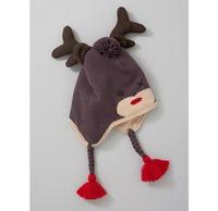 British children's knitting warm hat deer cartoon ear cap wool cap baby animal hat