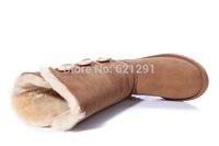 New Australia classic tall waterproof cowhide genuine leather snow boots women winter shoes women triple button Wholesale