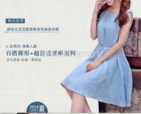 2014 new promotional Sen female line of flax linen dress was thin minimalist sent free 943 #