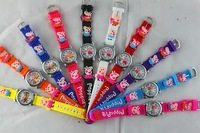 Free Shipping 30pcs/lot hot sales high quality Cute Peppa Pig 3D Cartoon girls boys kids Children Students Quartz  Wrist watch