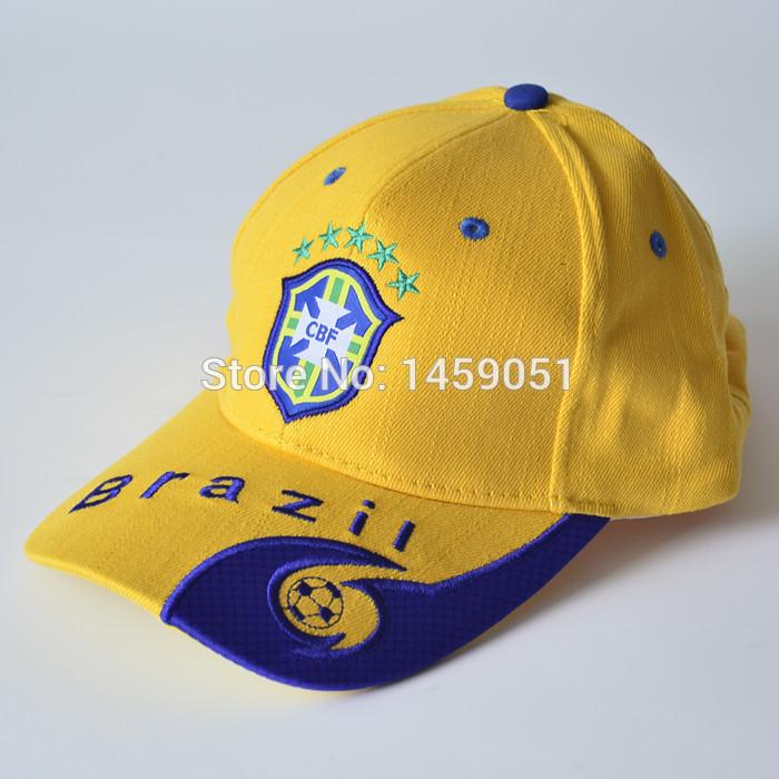 Livraison gratuite 100% coton loisirs coupe du monde brésil l'équipe de football de football sport hommes femmes été décontracté casquette de Baseball chapeau de soleil(China (Mainland))