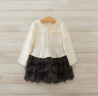 2014 New,girls fashion plaid dress,children princess tutu dress,long sleeve,2 colors,5 pcs/lot,wholesale,1854