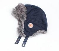 Free shipping Blue boy's bomber cap hair snow cap Children earmuffs winter cap A warm hat