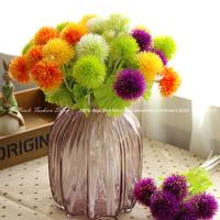 6pcs/lot Fresh Artificial Mini Silk Dandelion Hydrangea Decorative Flowers Home Party Decoration Wedding Flowers (no vase)