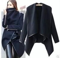 2014 Autumn Winter Woolen Coat Womens Overcoat Temperament Slim Trench Desigual femininos Wool & Blends Free Shipping S-XXXL