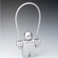Candle holder keychain doll alloy key ring d903