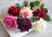 "NEW Single Velet Rose 50cm/19.69"" Length 24Pcs Artificial Roses for Wedding Flower Home Christmas Decorations Wedding Flower"