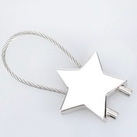 Star keychain overstretches steel wire key chain car gifts key ring girlfriend gifts
