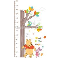 [Saturday Mall]-kids wall stickers animals cartoon Winnie owl tree nursery wall decor sticker children's height measurement 5305