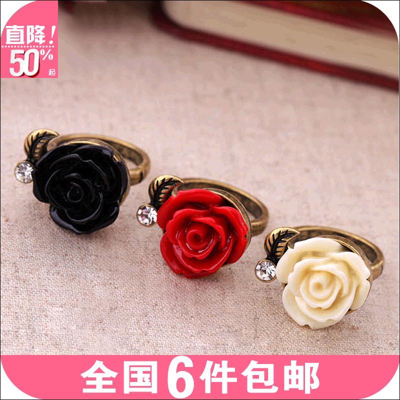 Od0141 acessórios de moda anel vintage aumentou mulheres anel de dedo anelar 4 g(China (Mainland))