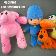 4pcs/lot New  Kids Brinquedos Gift  POCOYO  Elly & Pato & POCOYO & Loula Stuffed Plush Toys Cute Dolls Bandai Stuffed Figure Toy(China (Mainland))
