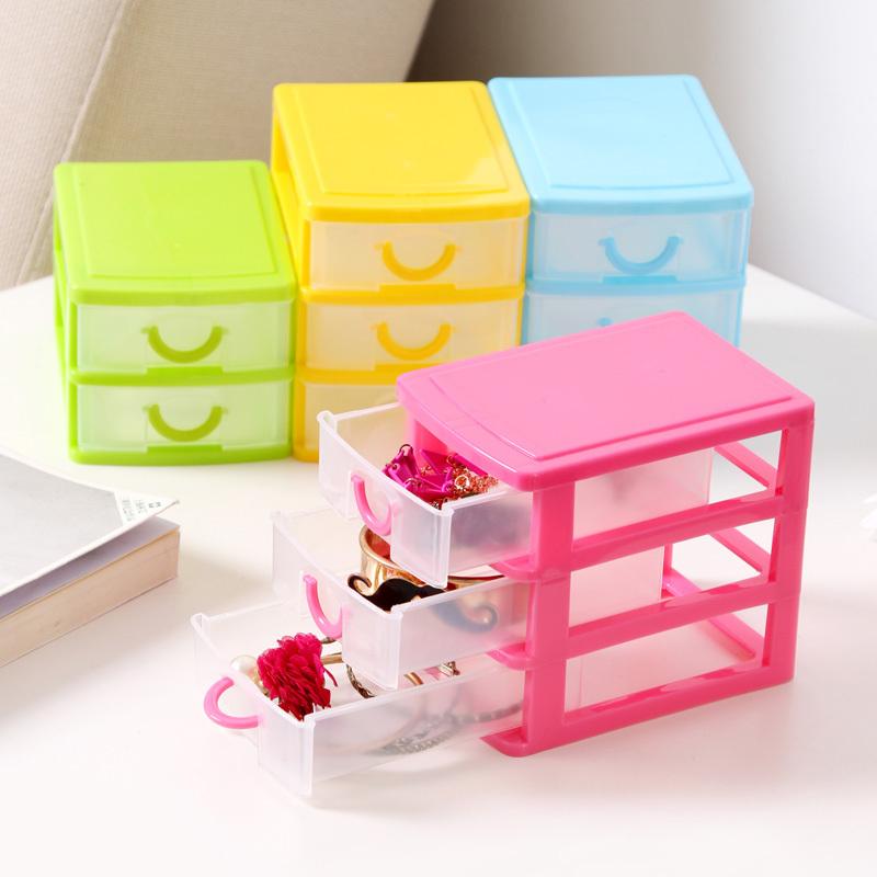 Colorful mini drawer finishing cosmetic storage box,, office desktop debris storage box K2025(China (Mainland))