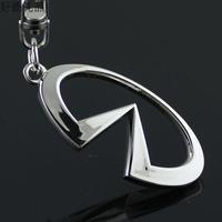 3d cutout infiniti car emblem keychain key ring key chain for 4s male women's