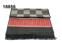 2014 men's long scarf fashion classic black and white plaid famous brand luxury logo scarves