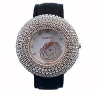 Sales Promotion!Women Rhinestone Fashion Ladies Dress Quartz Watch, Personality Flower Decoration Dial Watch