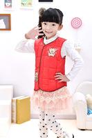 The new 2014 children down vest Children's clothes down vest Private feather vest/coat
