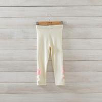 2014 New,girls cotton flower leggings,children autumn pants,beige/black,5 pcs/lot,wholesale,1858