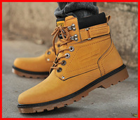 Free shipping 2014 new casual fashion autumn men boots winter fur men snow boots men flats shoes Oxford outdoor martin boots