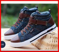hot sale 2014 new Casual tenis men Shoes man sports Fashion denim canvas leather men Sneakers ankle Loafers men flats male shoes