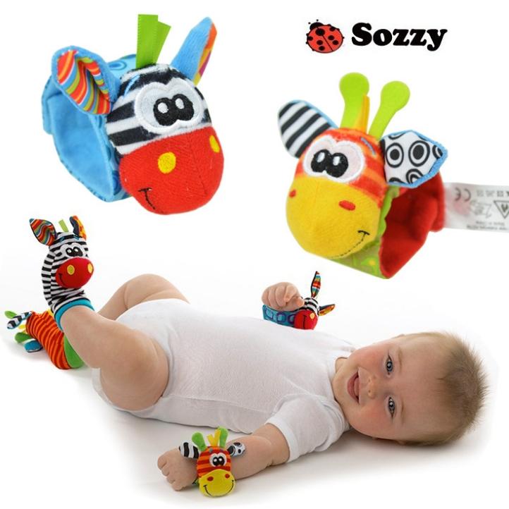 frete grátis sozzy novo estilo baby brinquedos educativos jardim bug wrist chocalho e meias pé 2 pcs pcs waist+2 meias gota(China (Mainland))