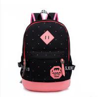 Wholesale Women's Travel Canvas Backpack black female vintage school bags for teenagers galaxy mochilas bolsas travel rucksack