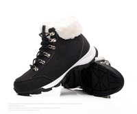 slip-resistant mountain sport tourist shoes british style genuine leather casual women boots platform