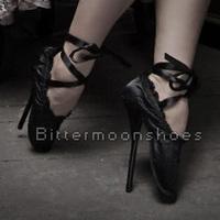 "~~Custom~~7"" Ballet Pointe Extreme Fetish Custom Ballerina Satin Silky Frill Ribbon Shoe"