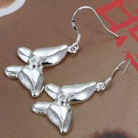 E170 Wholesale 925 silver earring 925 silver fashion jewelry earring Inlaid Butterfly Earrings