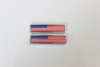 Free Shipping 2pcs Alloy US USA American Flag Badge emblem Auto Sticker for VW Mitsubishi