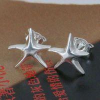 E033 Wholesale 925 silver earring 925 silver fashion jewelry earring Seastar Earrings