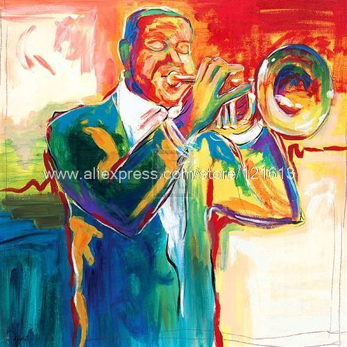 Dupre cor quarteto Trumpet Player Music Art Canvas Rolls grande parede Pictures para sala de estar Abstract Restaurant voltar(China (Mainland))