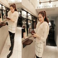 Free Shipping 2014 Korean version of the new winter fashion fur vest ladies vest jacket coat decoration
