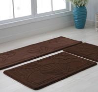 (1set=3pcs) Memory foam Entrance hall parlor carpet kitchen mat set bedroom exercise rugs footcloth free shipping