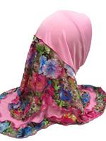 YTA471 Pretty smart crystal beaded Children/girl muslim hijab