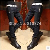 2014 Winter men's jeans Han edition thickening slim men's trousers trendy