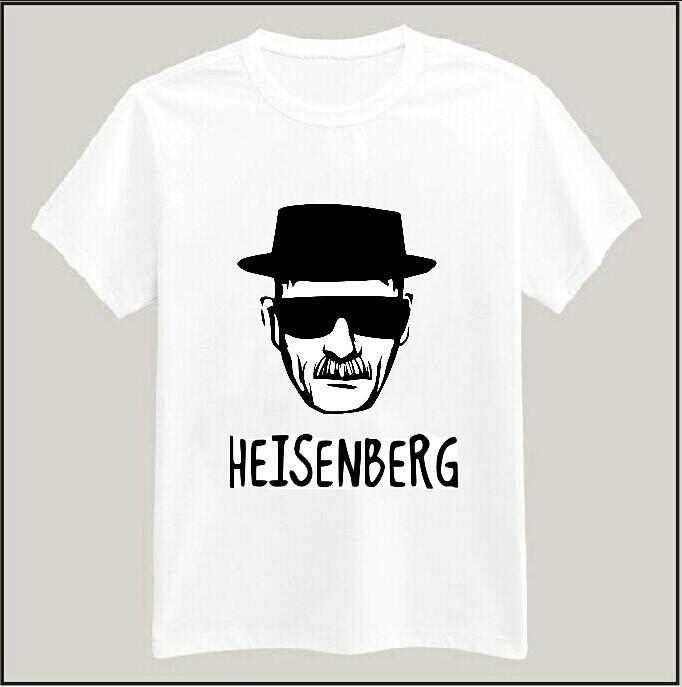 2015 New Women T shirt Breaking Bad Walter Cook Heisenberg Print Tshirt Cotton Casual Shirt White Top Tees Big Size TZ155-16(China (Mainland))