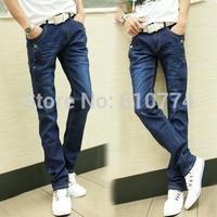 2014 Men's autumn winter thick jeans han edition stretch pants