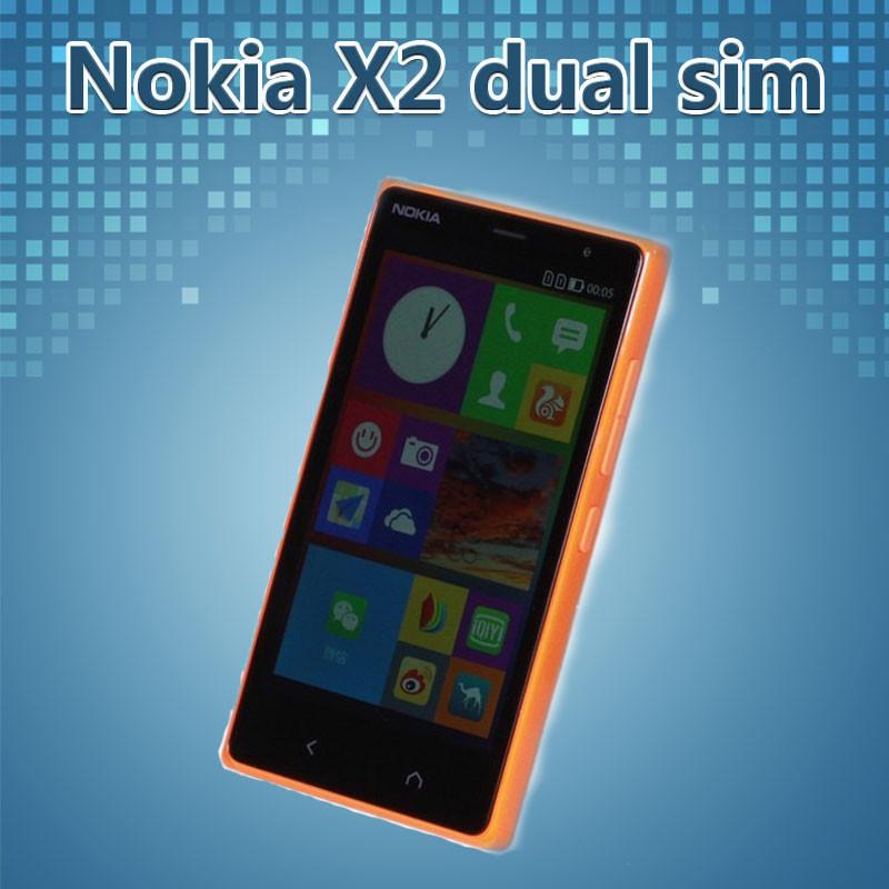 "Original Nokia X2 Dual sim Unlocked Mobile Phone 4.3"" inch 5MP Camera 1GB RAM 4GB ROM 3G WCDMA Android Phone Refurbished(China (Mainland))"