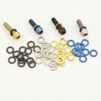 4Pcs Titanium Ti M5 Stem Washers Same Diameter as bolt head  Blue Black Gold Natural M5x18mm