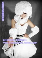 Black Butler Kuroshitsuji Doll Princess White Dress Anime Circus Lady Cosplay Costume