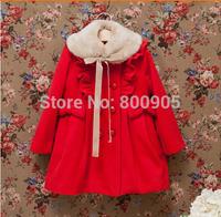 retail Girls Outerwear & coats children xmas trench , winter coat jackets for children girl kids christmas  fur collar clothing