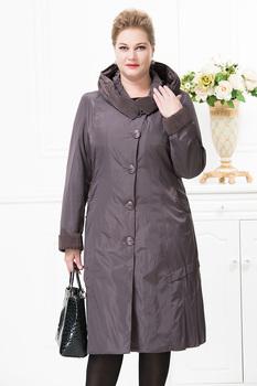 Астрид 2015 женщин пальто высокое качество осень зима тонкий с капюшоном флиса Falbala нагрудные кнопка мода большой размер AY9076