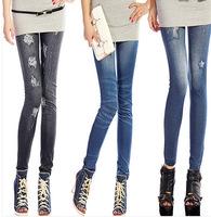 2014 New Korean Hip Slim Thin Section , Nine Points Leggings, Stretch Denim Leggings,Worm leggings,Diverse Styles