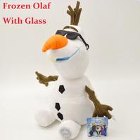 Frozen Olaf with Glass Original Frozen Olaf dolls Stuffed plush kids Children Birthday/Xmas Gift brinquedos meninas bonecas olaf