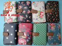 New cath women folder zip short  light classic wallets purses holder cotton waterproof vintage designer with famous brand logo