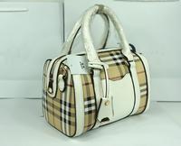 New 2014 Brand good quality drum pillow bag British retro plaid print fashion Mobile women messenger bags